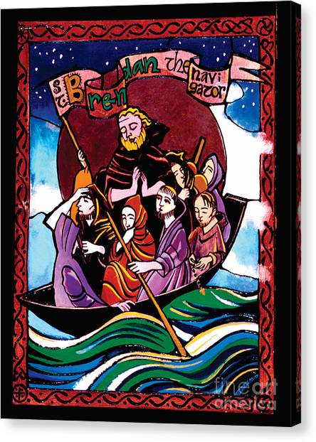 St. Brendan The Navigator - Mmbre Canvas Print