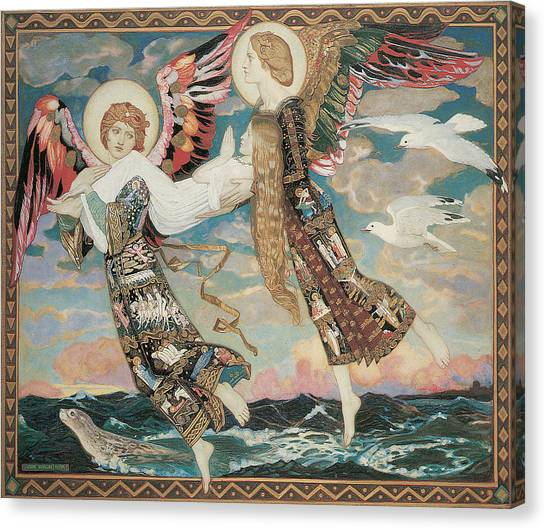 Seagulls Canvas Print - St. Bride by John Duncan
