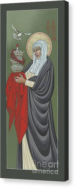 St Catherine Of Siena- Guardian Of The Papacy 288 Canvas Print