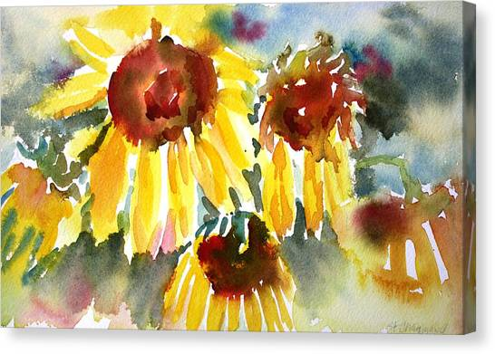 St. Charmand Sunflowers Canvas Print