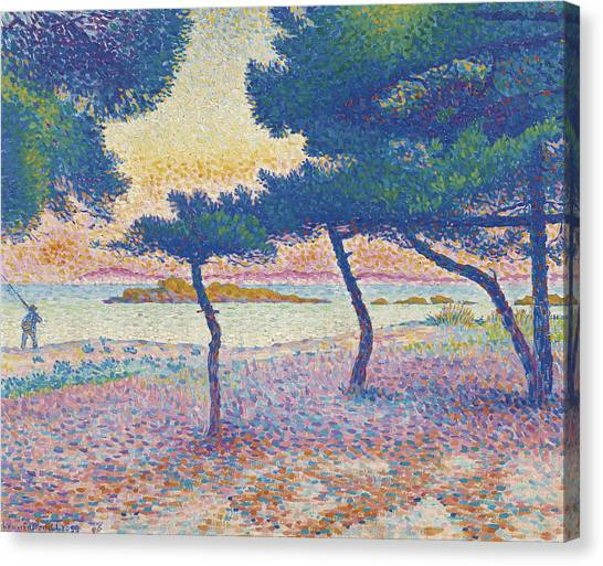 Divisionism Canvas Print - St. Clair Beach by Henri-Edmond Cross