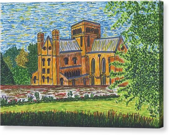 St Cross Church Winchester Canvas Print by Pat Walden
