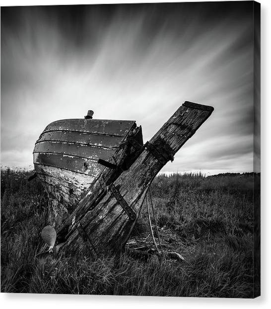Saints Canvas Print - St Cyrus Wreck by Dave Bowman