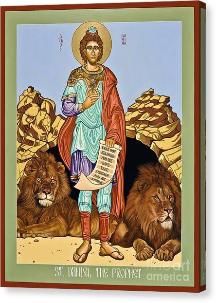 St. Daniel In The Lion's Den - Lwdld Canvas Print