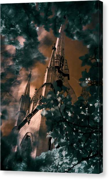 St Dunstan In The East Tower Canvas Print