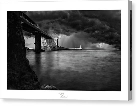 St. Elmo Breakwater Footbridge Canvas Print