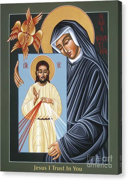 St Faustina Kowalska Apostle Of Divine Mercy 094 Canvas Print