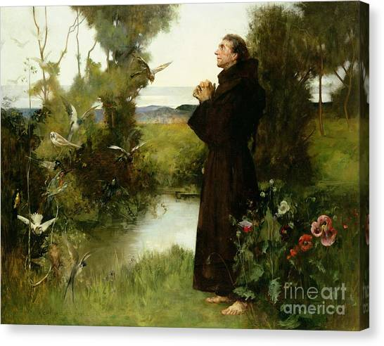 St Mary Canvas Print - St. Francis by Albert Chevallier Tayler