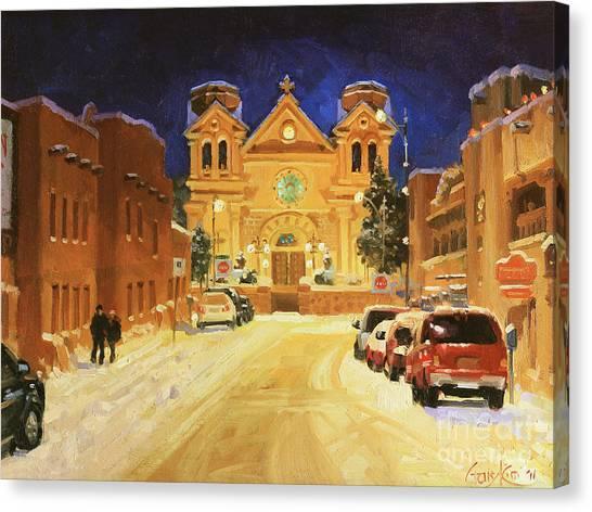 St. Francis Cathedral Basilica  Canvas Print by Gary Kim