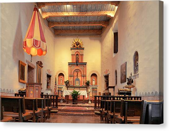 Francis Canvas Print - St Francis Chapel At Mission San Diego by Christine Till