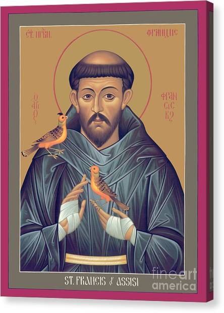 St. Francis Of Assisi - Rlfob Canvas Print