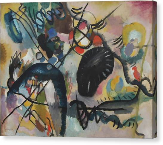 Black Spot I Canvas Print by Wassily Kandinsky