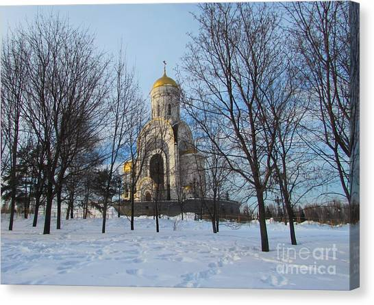Moscow Skyline Canvas Print - St. George's Church In Victory Park, Moscow by Anna Yurasovsky