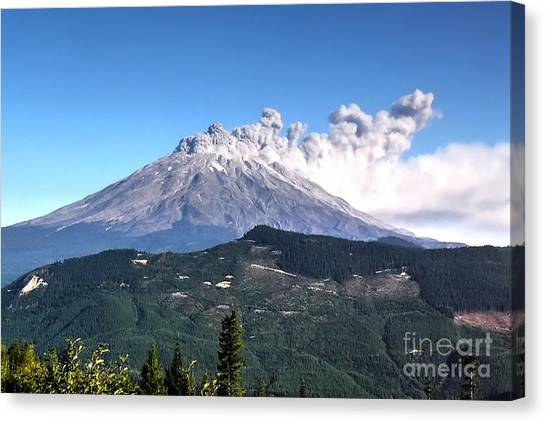 Mount St. Helens Canvas Print - St. Helens by Rick Mann