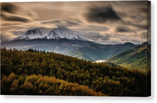 Mount St. Helens Canvas Print - St. Helens Wrath by Dan Mihai