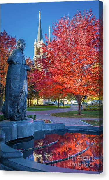 Academic Art Canvas Print - St Ignatius At Gonzaga by Inge Johnsson