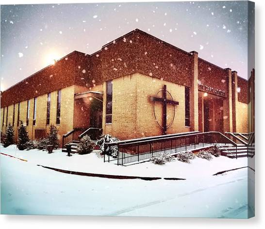 St. Isaac Jogues In The Snow Canvas Print