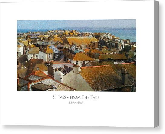 St Ives - From The Tate Canvas Print