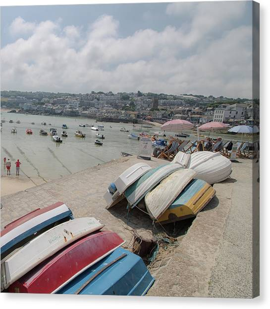 St Ives Canvas Print - St Ives Harbour by Martin Newman