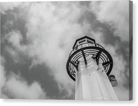 St Ives Canvas Print - St Ives Lighthouse by Martin Newman
