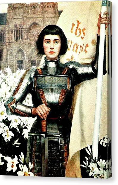 Religious Canvas Print - St Joan Of Arc - Jeanne D'arca by Albert Lynch