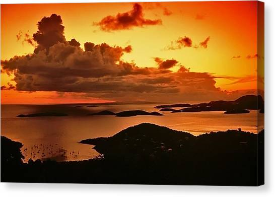 St. John Sunset Canvas Print