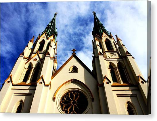 St. John The Baptist Cathedral Canvas Print by Dana  Oliver