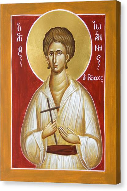 St John The Russian Canvas Print - St John The Russian by Julia Bridget Hayes