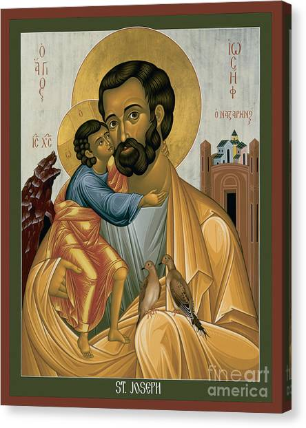 St. Joseph Of Nazareth - Rljnz Canvas Print