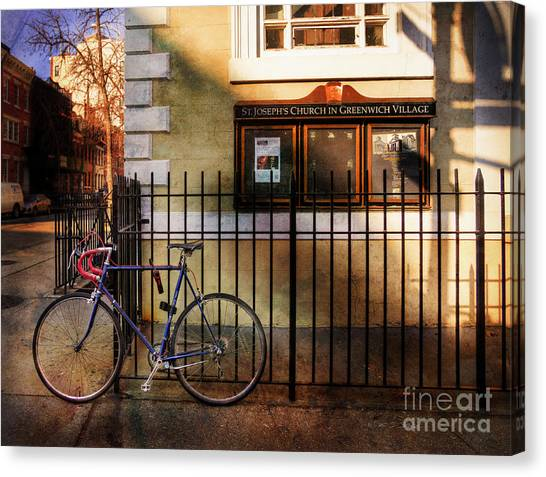 St. Joseph's Church Bicycle Canvas Print