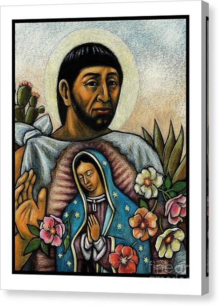 St. Juan Diego And The Virgins Image - Jljdv Canvas Print