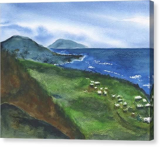St Kitts View Canvas Print