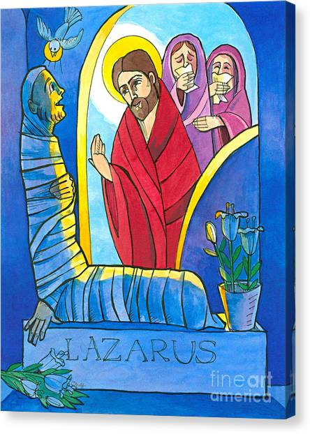 St Lazarus Canvas Print - St. Lazarus - Mmlzr by Br Mickey McGrath OSFS