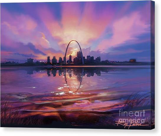 Gateway Arch Canvas Print - St. Louis - Blues And A Whole Lot More by Rip Kastaris