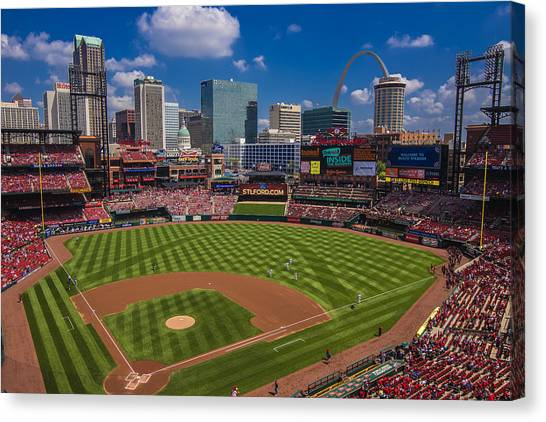 St. Louis Cardinals Busch Stadium Creative 16 Canvas Print