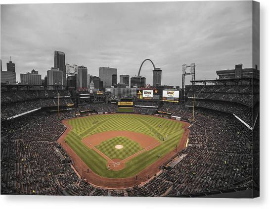 St. Louis Cardinals Busch Stadium Creative 17 Canvas Print