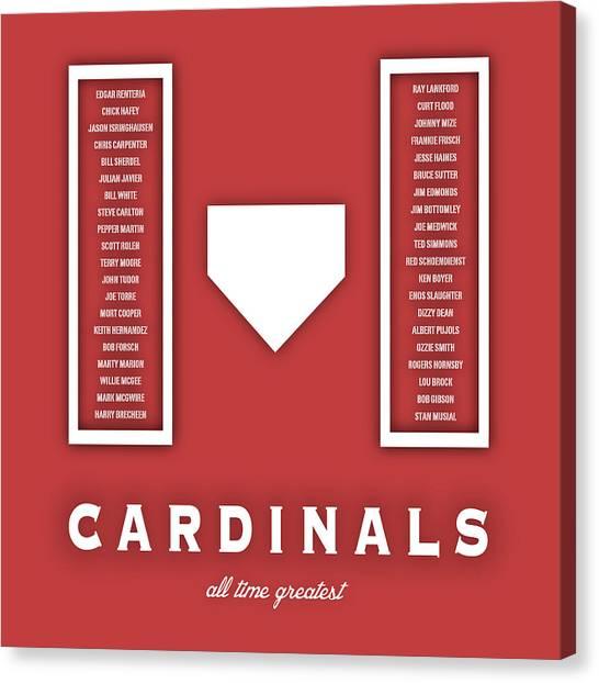 St. Louis Cardinals Canvas Print -  St. Louis Cardinals Art - Mlb Baseball Wall Print by Damon Gray