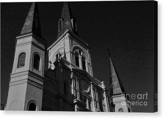 St. Louis Cathedral In Black And White Canvas Print by John Giardina