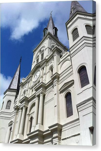St. Louis Cathedral In The Afternoon Canvas Print by John Giardina