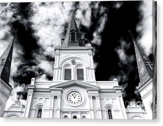 St. Louis Cathedral View Canvas Print by John Rizzuto