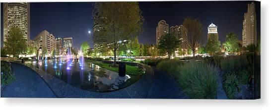 St. Louis City Garden Panorama Canvas Print