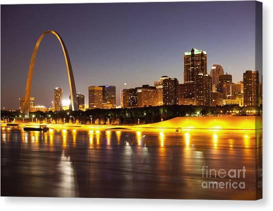 Saint Louis Canvas Print - St Louis Skyline by Bryan Mullennix