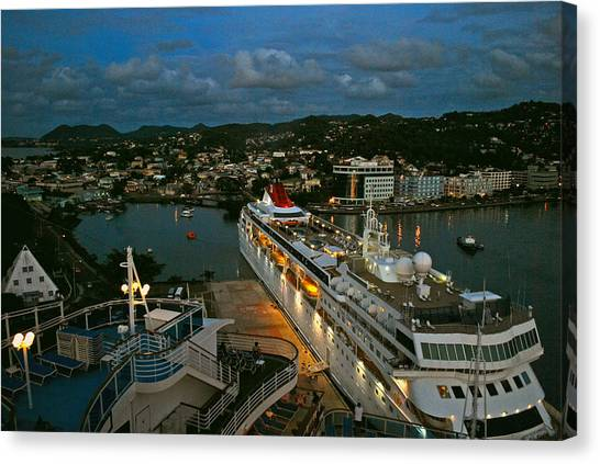 St. Lucia In The Evening Canvas Print