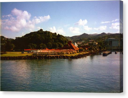 St Lucia Welcome Center Canvas Print by Russ Mullen