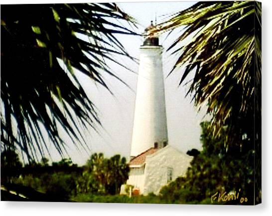 St Marks Lighthouse Canvas Print by Frederic Kohli