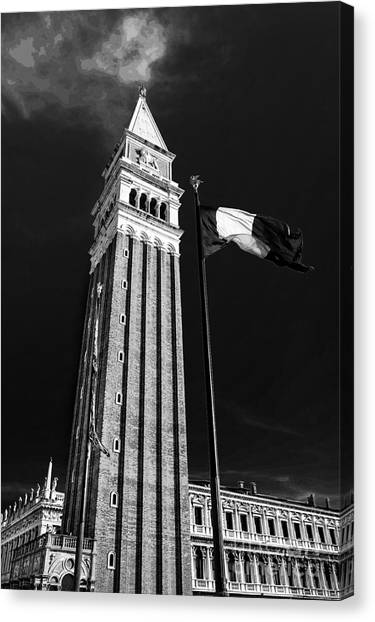 St. Marks Square Bell Tower Venice Canvas Print by Ken Andersen