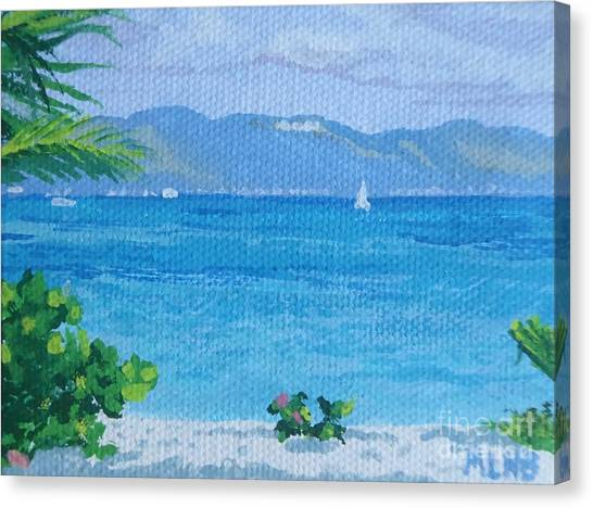 St Martin From Anguilla Canvas Print
