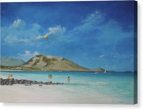 St. Martin Playground By Alan Zawacki Canvas Print