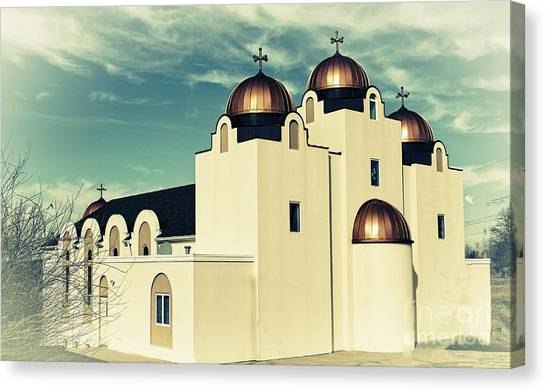 Coptic Art Canvas Print - St Mary And St Abraam Coptic Orthodox Church 2 by Luther Fine Art