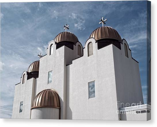 Coptic Art Canvas Print - St Mary And St Abraam Coptic Orthodox Church by Luther Fine Art